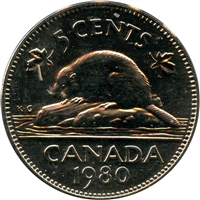 1980 Canada 5-cents Proof Like