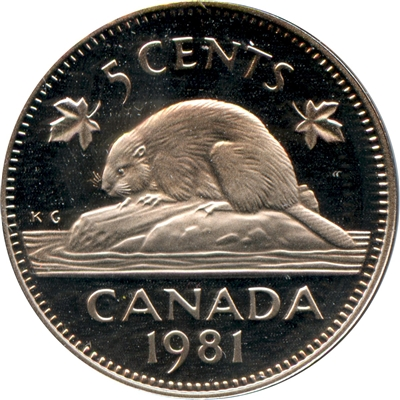 1981 Canada 5-cents Proof