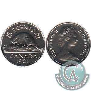 1981 Canada 5-cents Proof Like