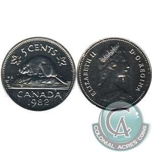 1982 Canada 5-cents Proof Like