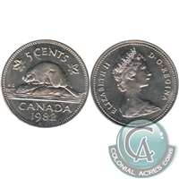 1982 Canada 5-cents Brilliant Uncirculated (MS-63)