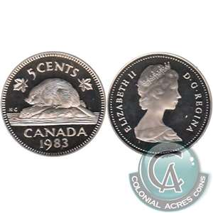 1983 Canada 5-cents Proof
