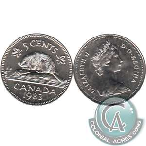 1983 Canada 5-cents Brilliant Uncirculated (MS-63)