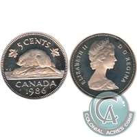 1986 Canada 5-cents Proof