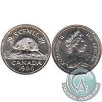 1986 Canada 5-cents Brilliant Uncirculated (MS-63)