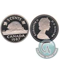 1987 Canada 5-cents Proof