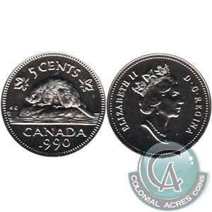 1990 Canada 5-cents Proof Like