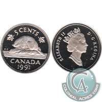 1991 Canada 5-cents Proof