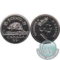 1991 Canada 5-cents Proof Like