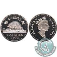 1993 Canada 5-cents Proof