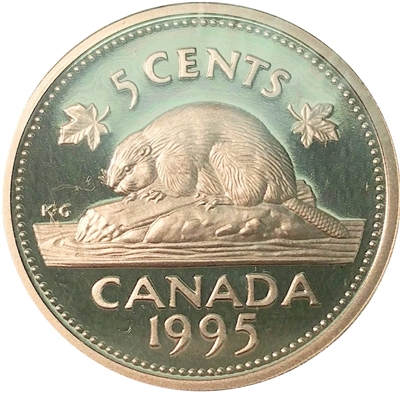1995 Canada 5-cents Proof
