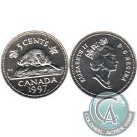 1997 Canada 5-cents Silver Proof