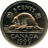 1999P (test) Canada 5-cents Brilliant Uncirculated (MS-63)