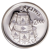 2000 Voltigeurs Canada 5-cents Silver Proof_