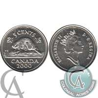 2000P Canada 5-cents Brilliant Uncirculated (MS-63)
