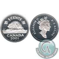 2001 Canada 5-cents Silver Proof