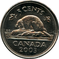 2003P Canada Old Effigy 5-cents Brilliant Uncirculated (MS-63)