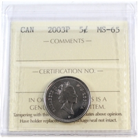 2003P Canada Old Effigy 5-cents ICCS Certified MS-65