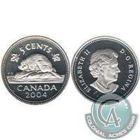 2004 Canada 5-cents Silver Proof