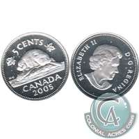 2005 Canada 5-cents Silver Proof