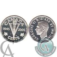 2005 VE Day Canada 5-cents Silver Proof