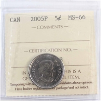 2005P Canada 5-cents ICCS Certified MS-66