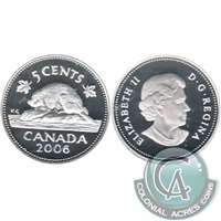 2006 Canada 5-cents Silver Proof