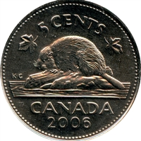 2006P Canada 5-cents Brilliant Uncirculated (MS-63)