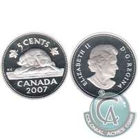 2007 Canada 5-cents Silver Proof