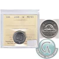 2008 Canada 5-cents ICCS Certified MS-65