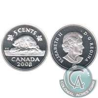 2008 Canada 5-cents Silver Proof