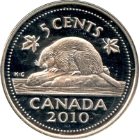 2010 Canada 5-cents Silver Proof