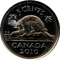 2010 Canada 5-cents Brilliant Uncirculated (MS-63)