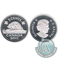 2011 Canada 5-cents Silver Proof