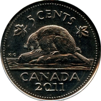 2011 Canada 5-cents Brilliant Uncirculated (MS-63)