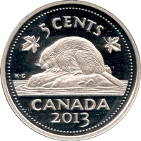 2013 Canada 5-cents Silver Proof