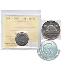 2013 Canada 5-cents ICCS Certified MS-65