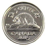 2015 Canada 5-cents Brilliant Uncirculated (MS-63)