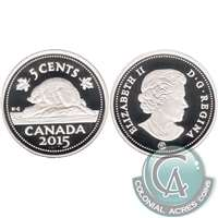 2015 Canada 5-cents Silver Proof