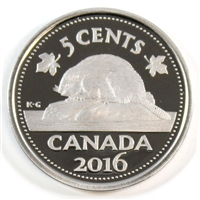 2016 Canada 5-cents Proof (non-silver)