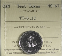 (2004) Canada 5-cents Test Token TT-5-12 ICCS Certified MS-67
