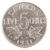 1931 Canada 5 Cents Uncirculated (MS-60)