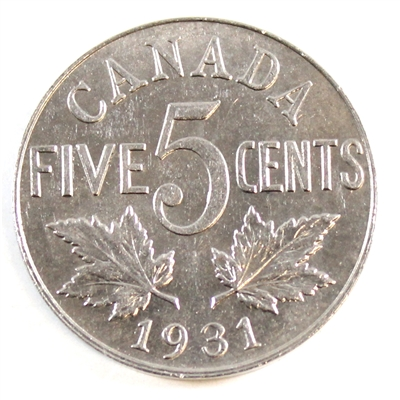 1931 Canada 5 Cents Uncirculated (MS-60) $