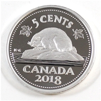 2018 Canada 5 Cents Silver Proof