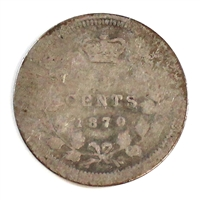 1870 Wide Rim Canada 5 Cents About Good (AG-3)
