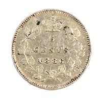 1886 Large 6 Canada 5 Cents VF-EF (VF-30)