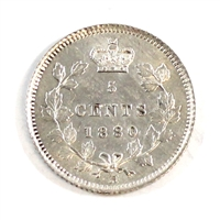 1880H Obv. 3 Canada 5 Cents Brilliant Uncirculated (MS-63) $
