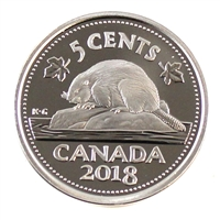 2018 Canada 5 Cents Proof (non-silver)