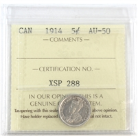1914 Canada 5-Cents ICCS Certified MS-63 (XQL 127)