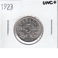 1923 Canada 5 Cents UNC+ (MS-62)